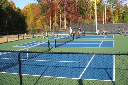 Three stand alone 36' tennis courts.