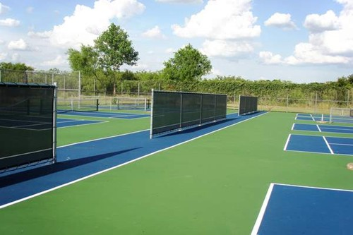 Ten (yes, ten) stand alone 36' tennis courts! These courts were designed with on-court parent viewin