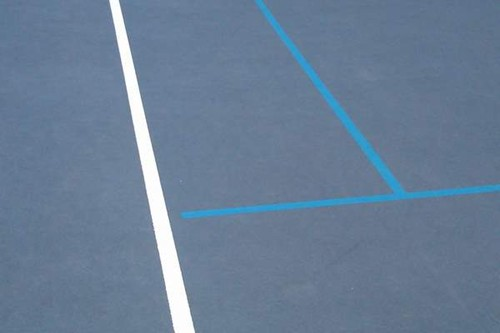 "Blended lines NEVER intersect 78' tennis lines.  All blended lines for 36' and 60' tennis are 1.5"" i"
