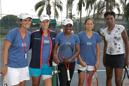2013 Fed Cup U.S. vs. Sweden Youth Tennis Clinic
