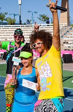 Lauren Davis with Redfoo and Tyler Weekes