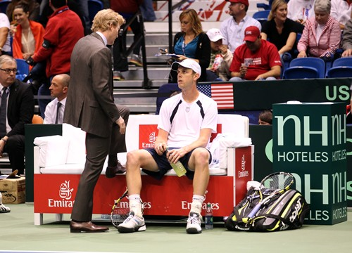 2013 Davis Cup: U.S. vs. Serbia Day 3 Action